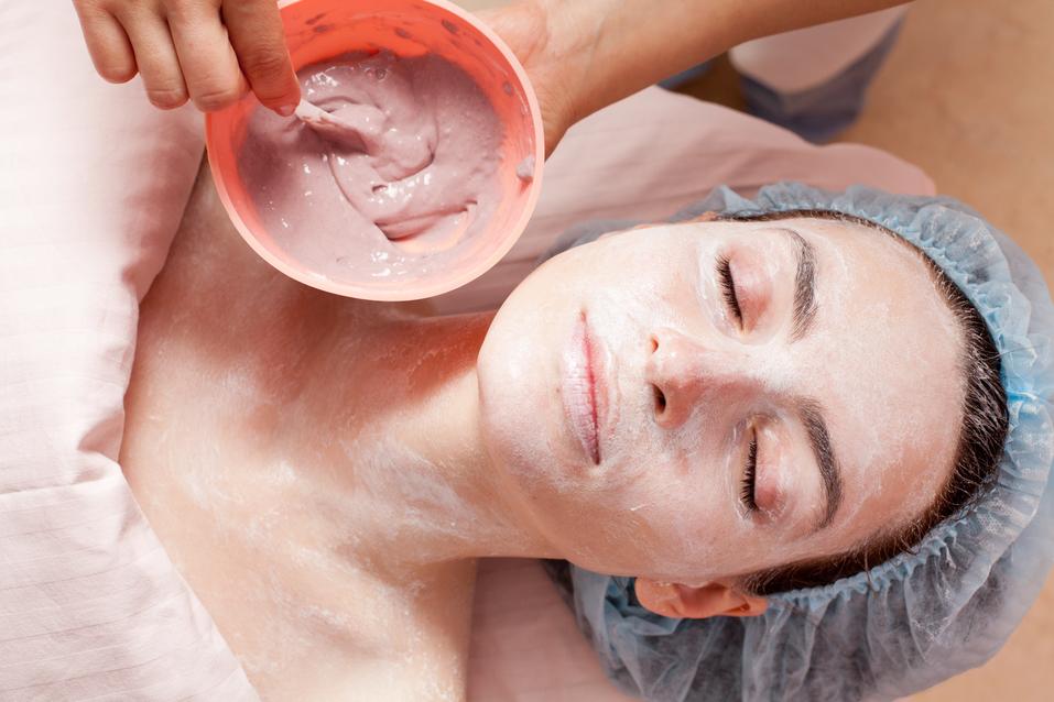 Beautiful woman before facial mask application - beauty treatmen